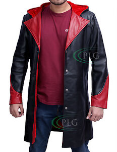 DEVIL MAY CRY - DANTE 100% GENUINE COWHIDE LEATHER TRENCH COAT / JACKET