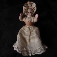 poupée mignonnette porcelaine bisque biscuit jouet ancien yeux verre ? miniature