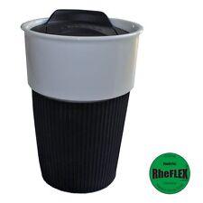 "Kaffeebecher to go Porzellan / Silikon Travel Mug 350ml ""Neuheit"" 3 Farben"