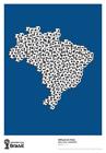 World Cup Brazil Art soccer 2014 Poster Print Nelson Leirner 2012 NEW RARE