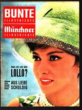COLORATI Monaco illustrate 3.6.1961 Gina Lollobrigida, LIZ TAYLOR, GARY COOPER