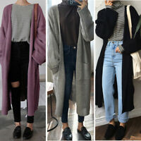 HOT Womens Cardigan Outwear Warm Long Sleeve Knitted Sweater Trench Coat Jacket