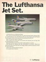 1969 Original Advertising' Lufthansa Germany Airlines Jet Set