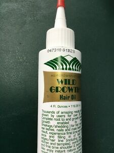 wild growth hair oil 4 oz new