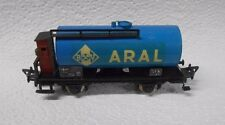 Fleischmann Germany HO 1465 BV Aral Blue Tank Car With Brakeman's Cabin No Box