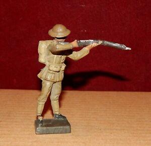 LINEOL Germany,Soldier English,Shotgun Set Shoulder 1914 -18,Bel Condition 7 5