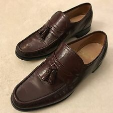 BOSTONIAN Mens Brown Leather Loafers Tassels - Size 8 M - Dress Shoes