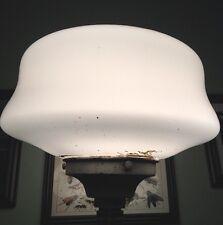 Industrial Vintage Antique Screw In Socket Fitter With Milk School House Globe