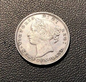 XF  - Details - 1870 Newfoundland (Canada) 10 Cents OBV. 2 - KEY DATE - RARE !!!