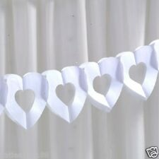 wedding chic boutique white heart tissue bunting garland venue decoration