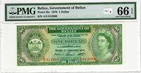 Belize PMG Certified Banknote 1976 1 Dollar UNC 66 EPQ Gem Pick 33c