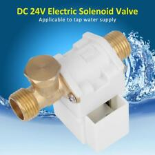 "DC 24V Electric Solenoid Valve For Water Air N/C 1/2"" Normally Closed HighQ"
