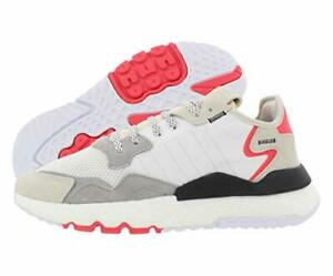 Adidas Originals Men's Nite Jogger Sneaker, White/Crystal White/Orange