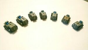 Tyco HO Train Lot of 7 Gray Tractors For Flatcars/Layout/Scenery/Accessories