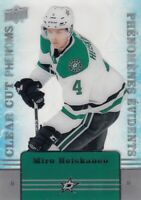 2019-20 UPPER DECK TIM HORTONS CLEAR CUT PHENOMS MIRO HEISKANEN NO:CC-11  LOT 7