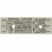 Rocky Horror Picture Show Full Ticketabschnitt Chicago 12/18/80 Granada Film selten