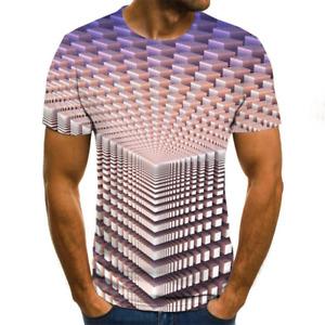 Superbe T-Shirt Homme Style Vortex imprimé 3D Eté Rose Lumineux Du XXS au 6XL