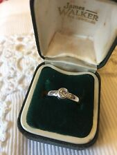 SOLITAIRE BEZEL SET DIAMOND RING~WHITE GOLD....