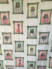 Animal Corns  fabric  Shower Curtain  includes 12 metal rings