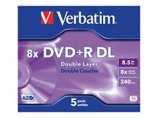 Verbatim DVD R DL 8.5gb 5pk JEWEL Case 8x