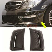 2p For Mercedes Benz W204 C63 AMG 12-14 Carbon Side Fender Fin Air Intake Vents