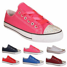 Unbranded Lace-up Canvas Upper Shoes for Women