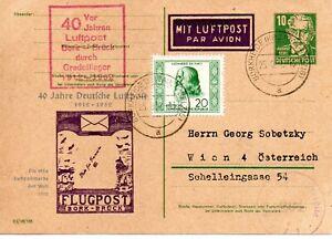 Ganzsache der DDR 40 Jahre Deutsche Luftpost