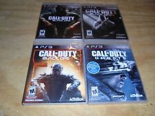 lot of 4 Call Of Duty Black Ops 1,2 3 and ghost PS3 Used Good condition