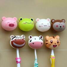Unisex Cute Cartoon Animal Sucker Toothbrush Wall Holder Suction Cup Bathroom