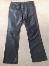 Nicole Farhi Men's Leather Jeans / Pants - Size 32