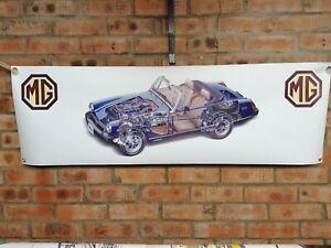 mg midget mk1 mk2 mk3 1500 pvc WORK SHOP BANNER garage classic car SHOW