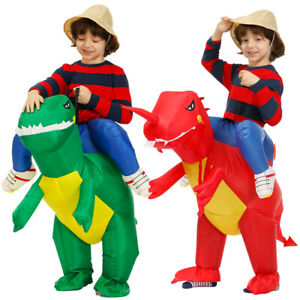 Kids Inflatable Dinosaur Costume Party Coplay Animal Child Suit