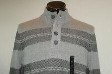 NWT APT. 9 Sweater - Gray w/Charcoal stripes - L