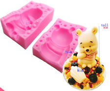 3D Winnie The Pooh Cake Chocolate Silicone Mould Fondant Mold Baking Decor