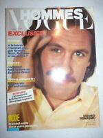 Magazine mode fashion VOGUE HOMMES #70 juin 1984 Gerard Depardieu