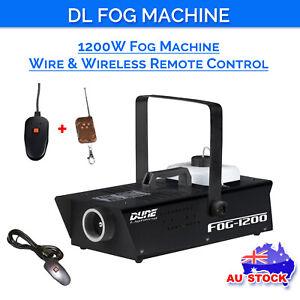 DL 1200W Powerful Fog Smoke Machine Wire & Wireless Remote Controller