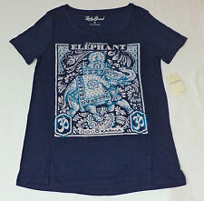 NWT Lucky Brand S/S Blue Graphic T-Shirt  Good Karma    Small      F308