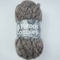 Patons Cobbles Chunky Knit Yarn Moon Rock Super Bulky Knitting 1 Skein New Wool