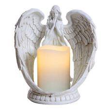 "9"" Praying Angel Wings Figurine Sculpture Statue Votive Prayer Candle Holder"