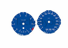 Tachoscheiben für BMW 1er E81 E82 E87 E88 Benziner 300 kmh km/h M1 Blau Nr 103