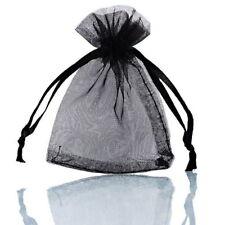Pochettes Sachets Cadeaux Organza - 7x9 cm - Noir - Neuf