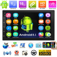 2Din 7in Android8.1 Quad Core GPS Navi WiFi Car Stereo Video MP5 Player FM Radio