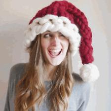 1x Unisexe Adulte Enfant Chapeau Bonnet Tricoté Père Noël Costume Déguisement NF