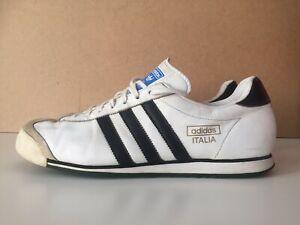Vintage Adidas Italia Herren-Sneaker Weiß Gr 44