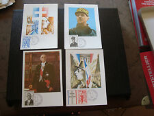 FRANCE - 4 cartes 1er jour 9/11/1971 (general de gaulle) (cy41) french (A)