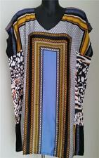Polyester Animal Print Regular Size Tunic Tops for Women
