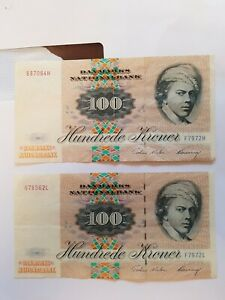 200  Danish kroner banknotes currency denmark