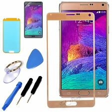 Gold Outer Replacement LCD Screen Glass Lens Tools For Samsung Galaxy Note 4