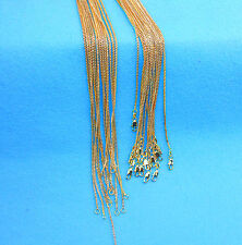 "Wholesale 5X 30"" Wholesale Jewelry 18K GOLD FILLED Box Chain Necklaces Pendants"