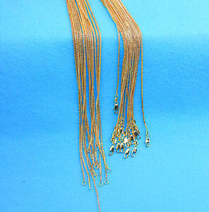 "Wholesale 5X 24"" Wholesale Jewelry 18K GOLD FILLED Box Chain Necklaces Pendants"